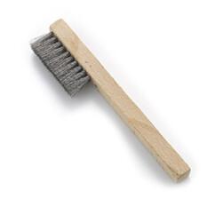מברשת יד נירוסטה 2 שורות ידית עץ - NN2 - פאר נשר