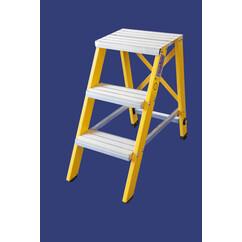 """סולם מדרגות קבוע מפיברגלס מקצוענים-2 מדרגות-""""חגית"""""""