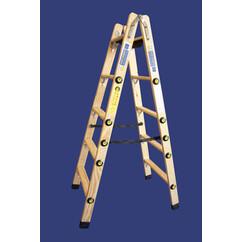 """סולם עץ רב מקצועי שלבים רחבים 2X8 - """"חגית"""""""