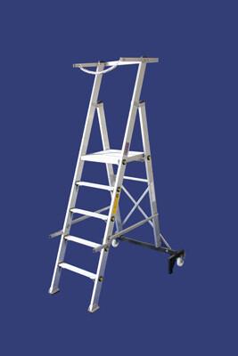 """סולם תחזוקה מתקפל מקצוענים- גובה משטח-3.50 מ' -""""חגית"""""""