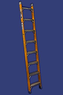 """סולם פיברגלס יחיד נשען מקצוענים שלבים רחבים-13 שלבים- """"חגית"""""""