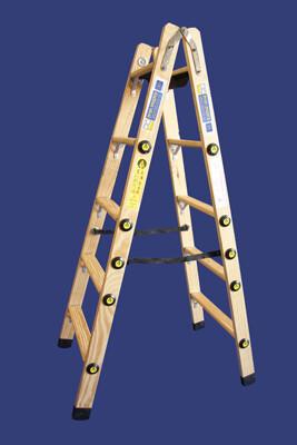 """סולם עץ רב מקצועי שלבים רחבים 2X5 - """"חגית"""""""