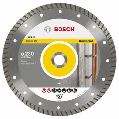 """דיסק יהלום למשחזת זווית לחיתוך אבן / אוניברסלי """"4.5 115 מ""""מ 2608615057 Bosch"""