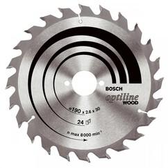 """להב וידיה 190 מ""""מ """"1/2 7 - 24 שיניים - Bosch"""